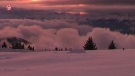 Sonnenuntergang über Grenoble